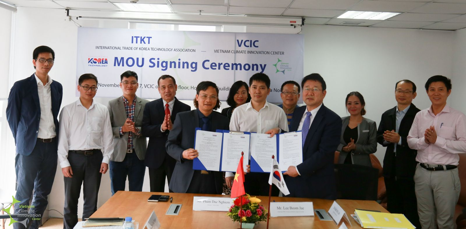 Signing ceremony of the memorandum of understanding between VCIC and I T K T