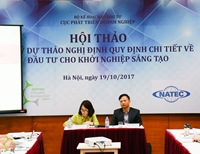 VCIC jointly organized a workshop on formulating decree on innovative entrepreneurship investment in VietNam
