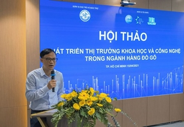 """[TV ANGLE] Hội thảo """"Phát triển thị trường khoa học và công nghệ trong ngành hàng đồ gỗ"""" được Đài truyền hình TP.HCM và nhiều đơn vị báo chí trong nước đưa tin."""
