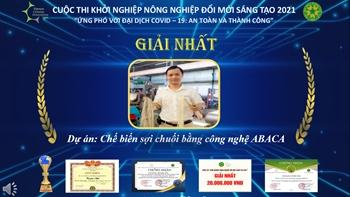Dự án chế biến sợi chuối được vinh danh tại cuộc thi khởi nghiệp nông nghiệp